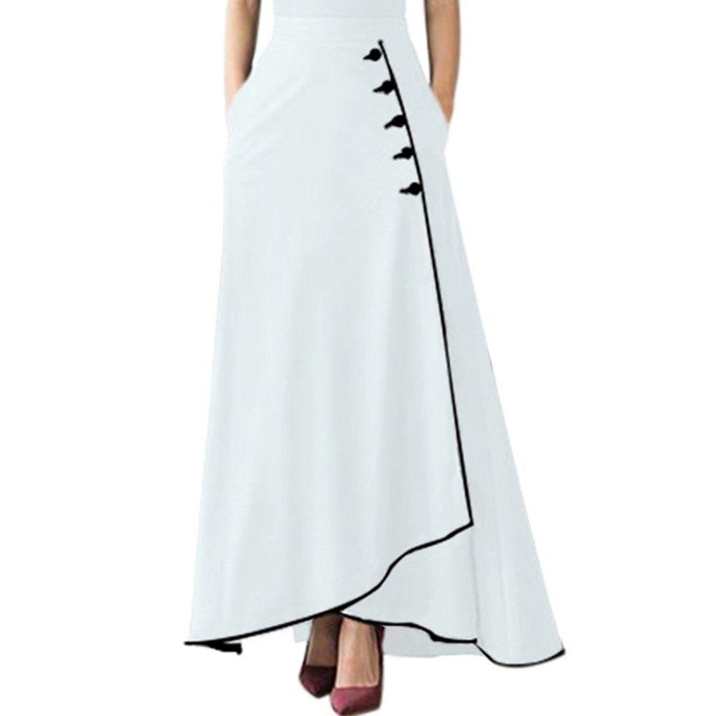 Guyu Womens Off Shoulder High Waist Short Sleeve Long Maxi Dress 4
