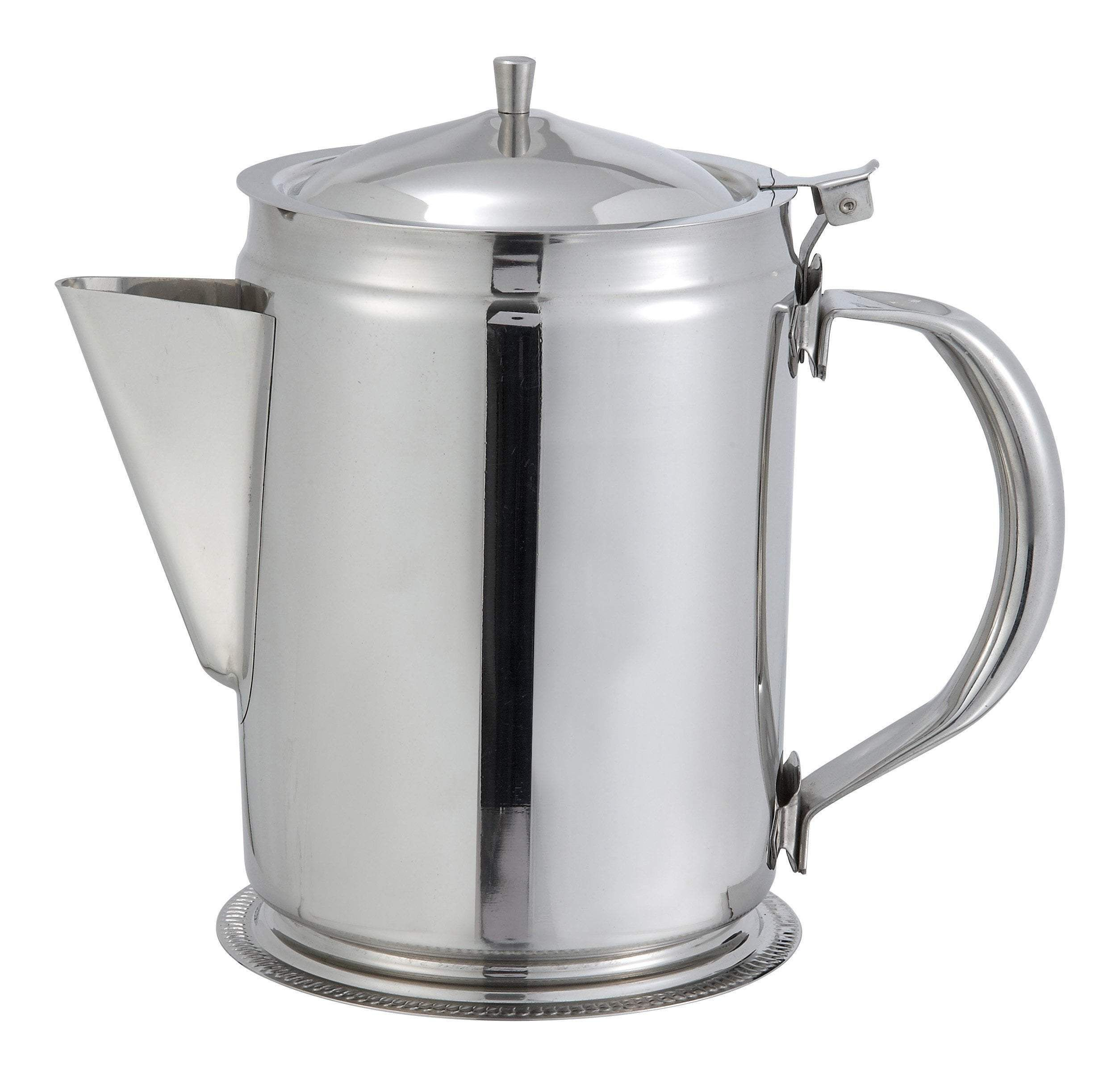 Winco - BS-64 - 64oz Coffee Server w/Cover, Stainless Steel - Beverage Service #coffeeserver Winco - BS-64 - 64oz Coffee Server w/Cover, Stainless Steel - Beverage Service #coffeeserver