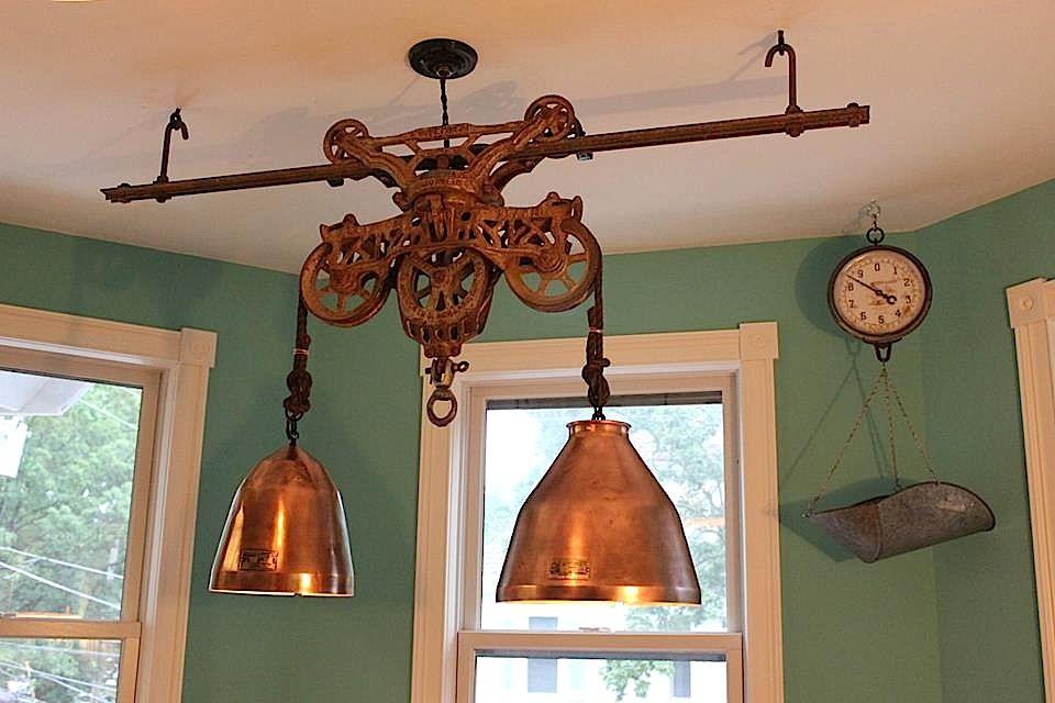 Hay Trolley Chandelier | Cabin lighting, Dining room ...