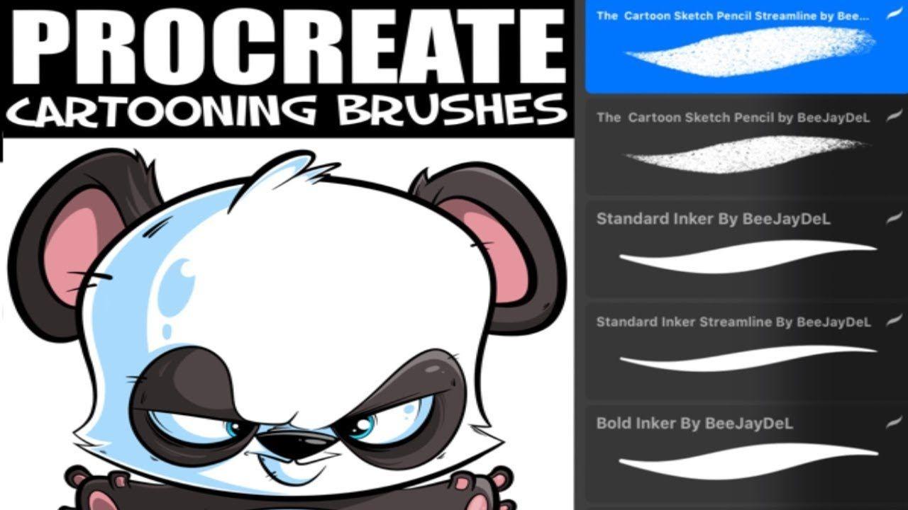 Cartooning Brush Set For Procreate By Beejaydel Set Up Instructions Youtube Procreate Brush Brush Set