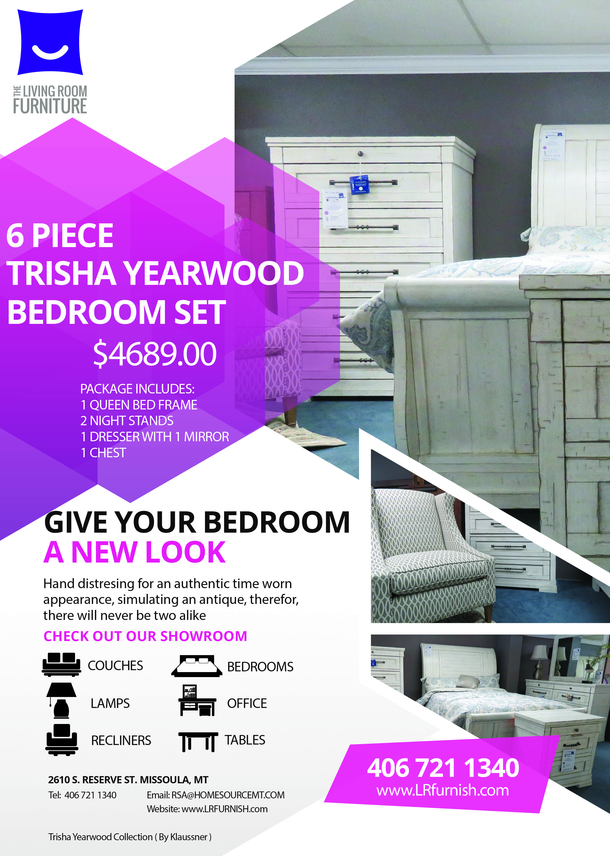 trisha yearwood home collection  living room sales