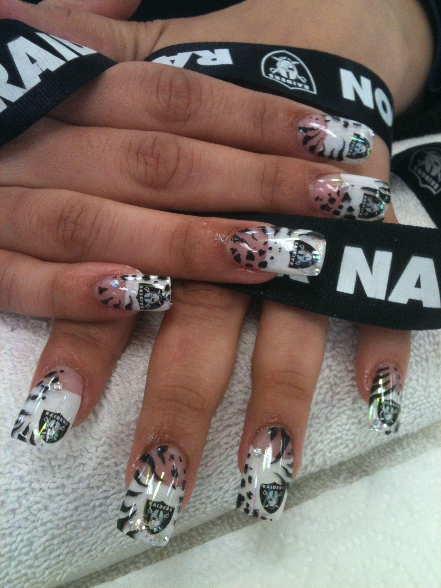 Go Raiders!!!!! | Nails Design By Alma | Pinterest | Raiders ...