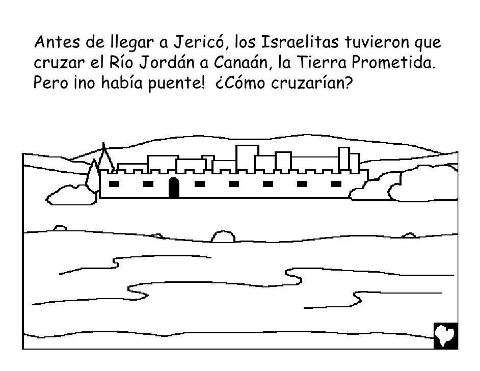Antes de llegar a Jericó, los Israelitas tuvieron quecruzar el Río ...
