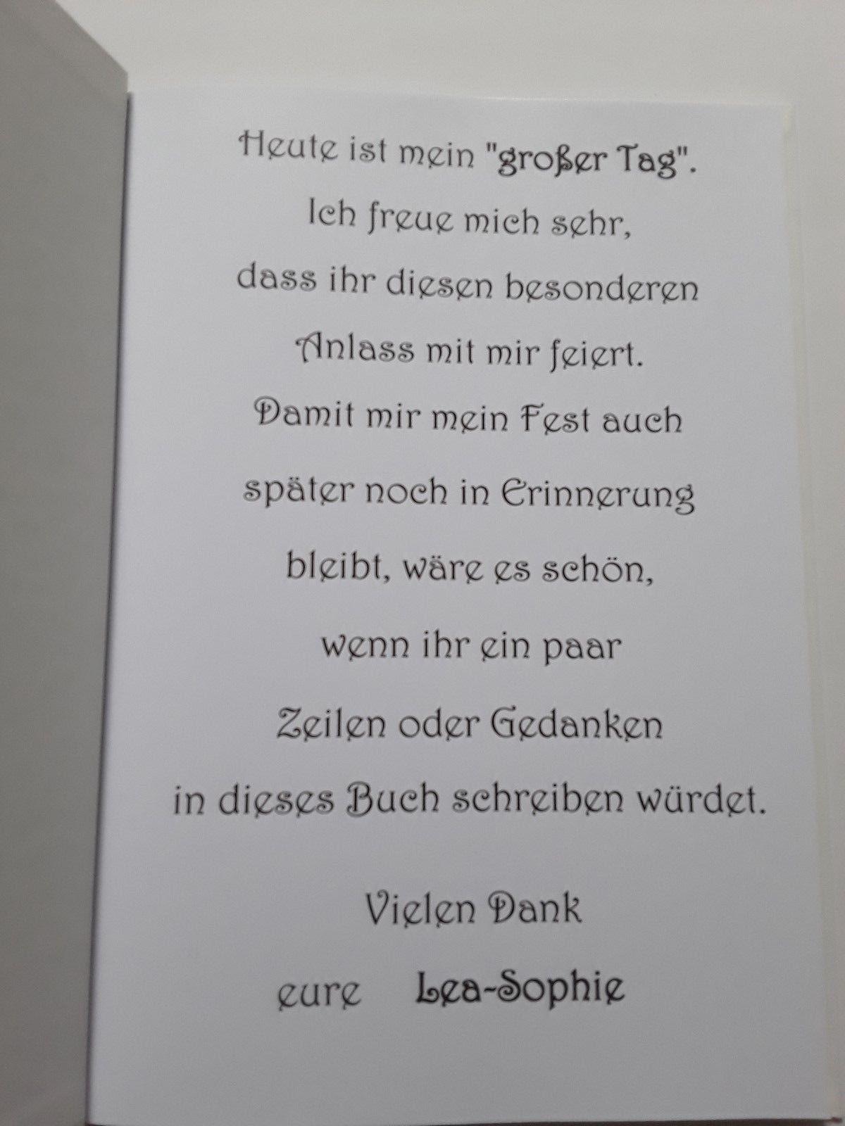 Gästebuchfotoalbum Mit Spiralbindung Konfirmation