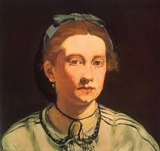 """<마네_빅토린 뫼랑> 이 여인은 마네가 굉장히 아꼈던 모델로 '풀밭 위의 점심' 에서 잔디밭에 앉아 있는 여인과 동일 인물이다. 이 그림을 보면 이전까지의 초상화와는 사뭇 다른 느낌을 받게 된다. 예전에 그린 초상화들이 인간의 아름다움을 표현하고자 했다면 이 그림은 보이는 사실 그대로를 표현하고자 한 듯 하다. 마네는 이러한 비평에 대해서 """"나는 내가 본 것을 그린다."""" 라고 대답하였다고 한다."""