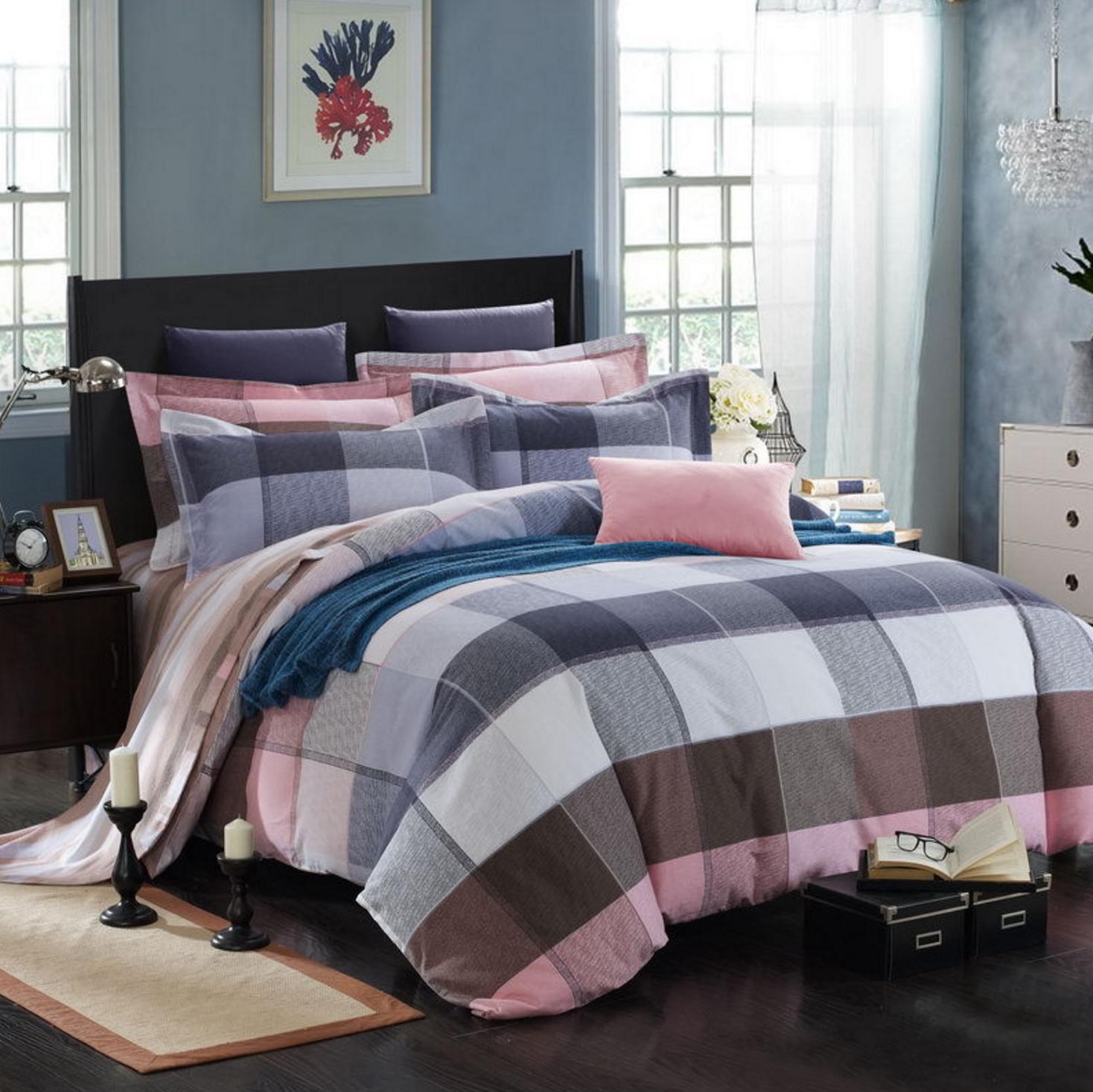 Cute 4 Piece Cotton Bedding Set