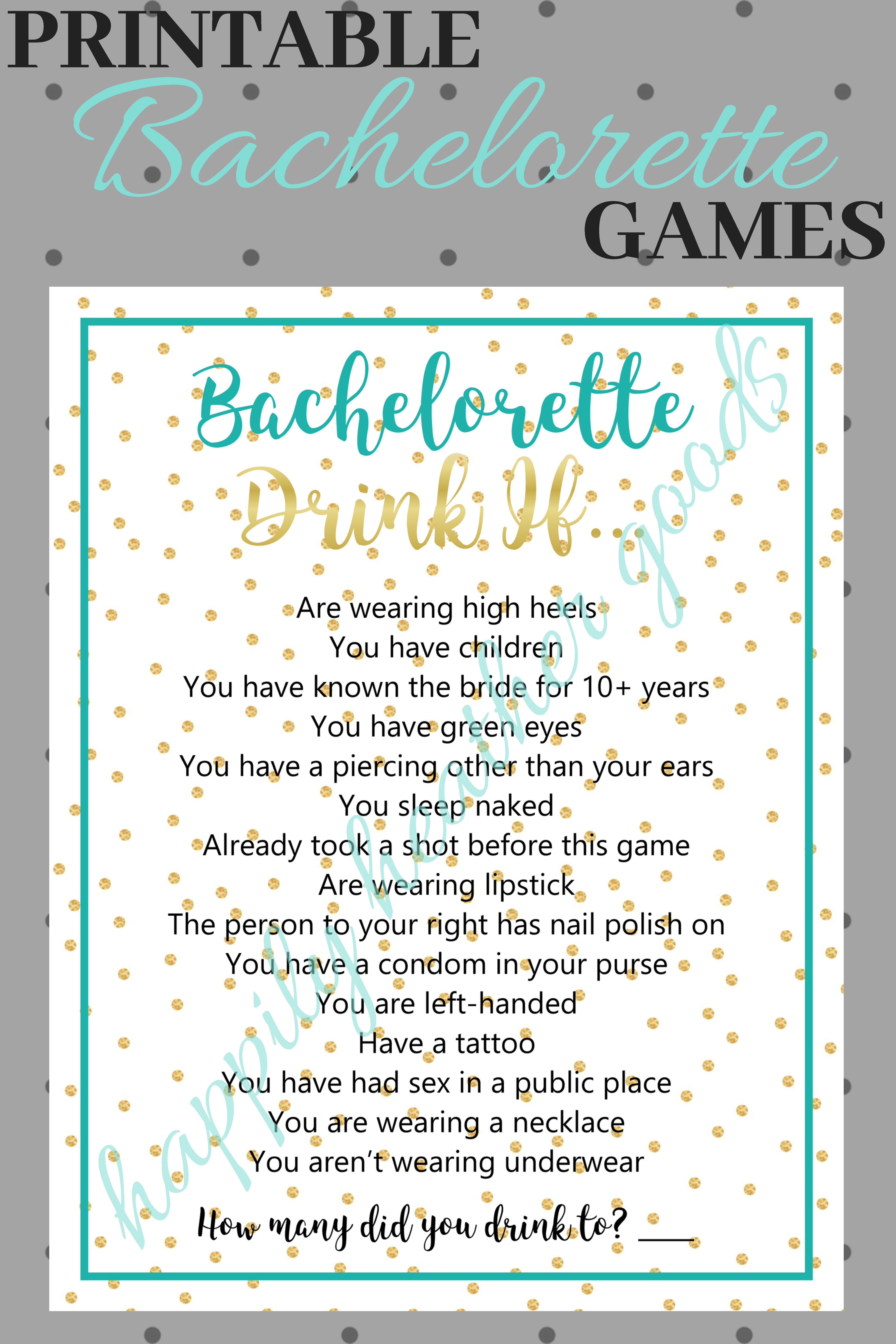 Pin On Bachelorette Party Games
