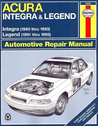 Acura Repair Manual Integra 1990 1993 Legend 1991 1995 Repair Manuals Acura Acura Legend