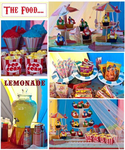 Circus food i 39 m really starting to like this theme ecb future party circus carnival - Food booth ideas ...