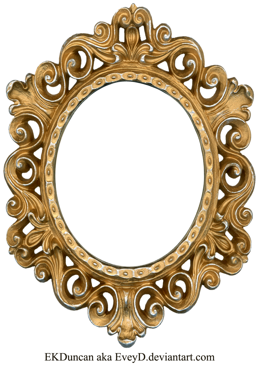 vintage gold and silver frame oval by eveyddeviantartcom on deviantart