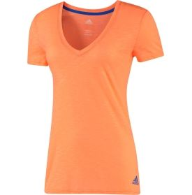 SIZE S adidas Women's Boyfriend Burnout Double V-Neck T-Shirt - Dick's Sporting Goods