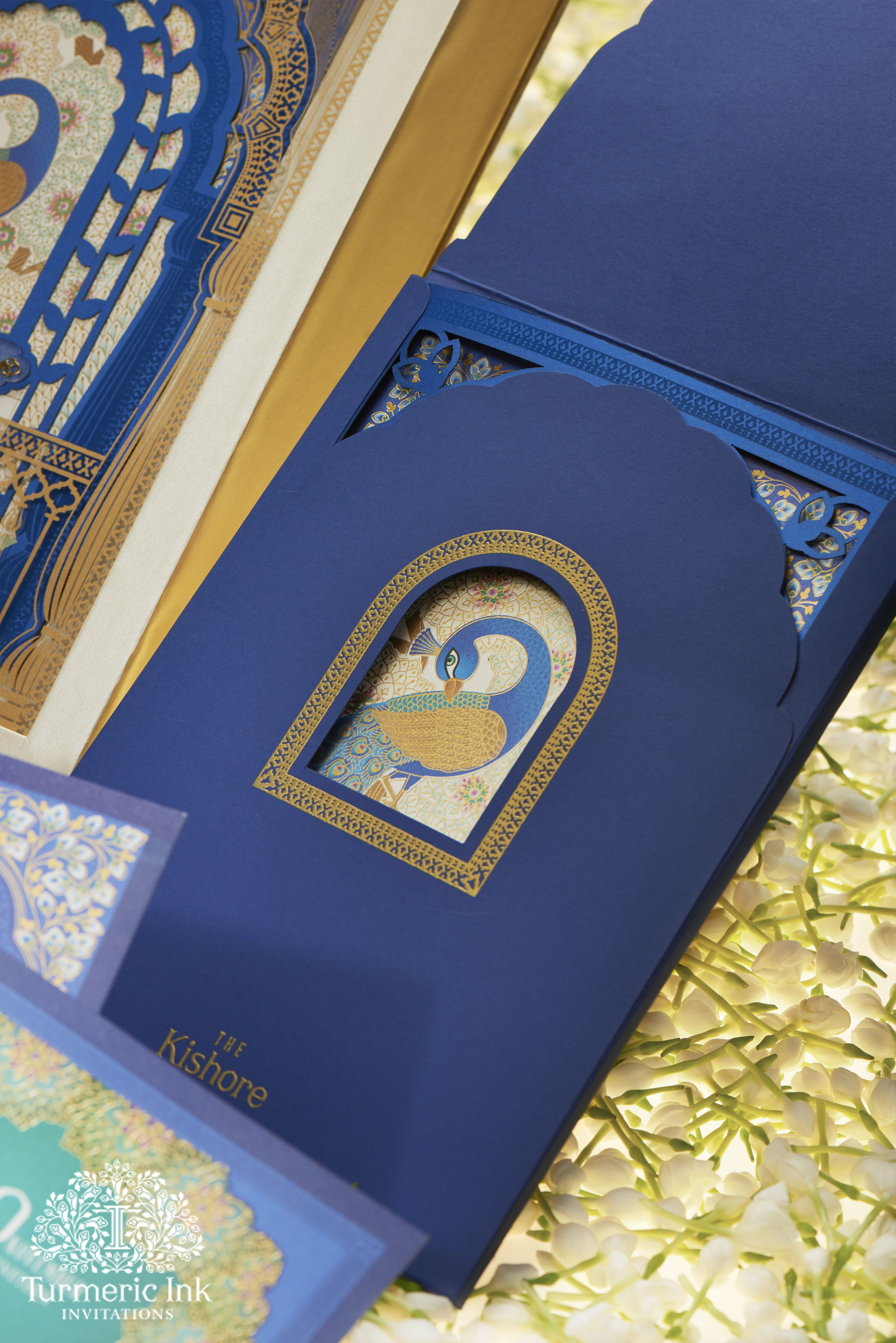A royal invite designed on the concept of creating