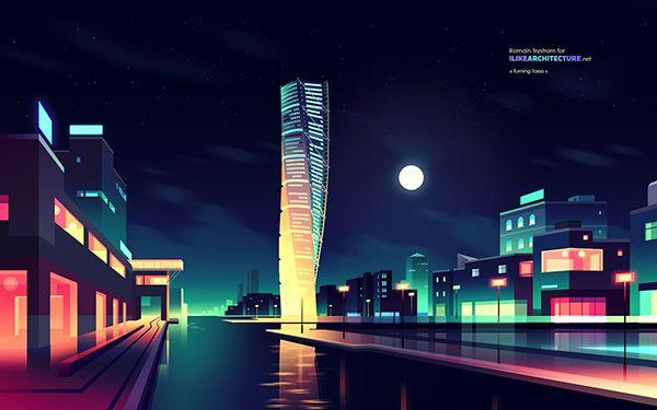 I like architecture  by Romain Trystram, via Behance