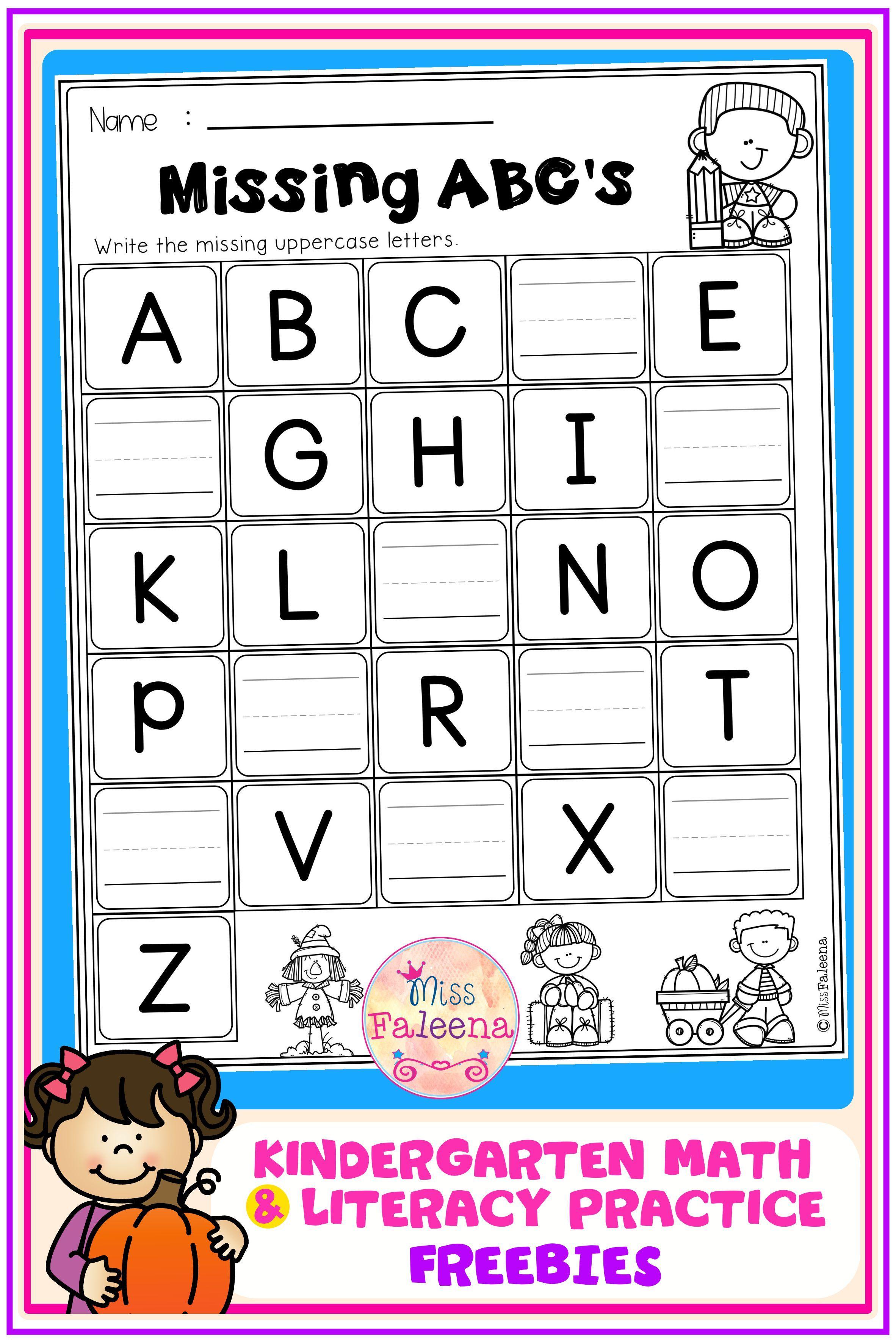Free Kindergarten Math And Literacy Practice Literacy Practice Kindergarten Math Free Literacy Homework [ 3544 x 2364 Pixel ]