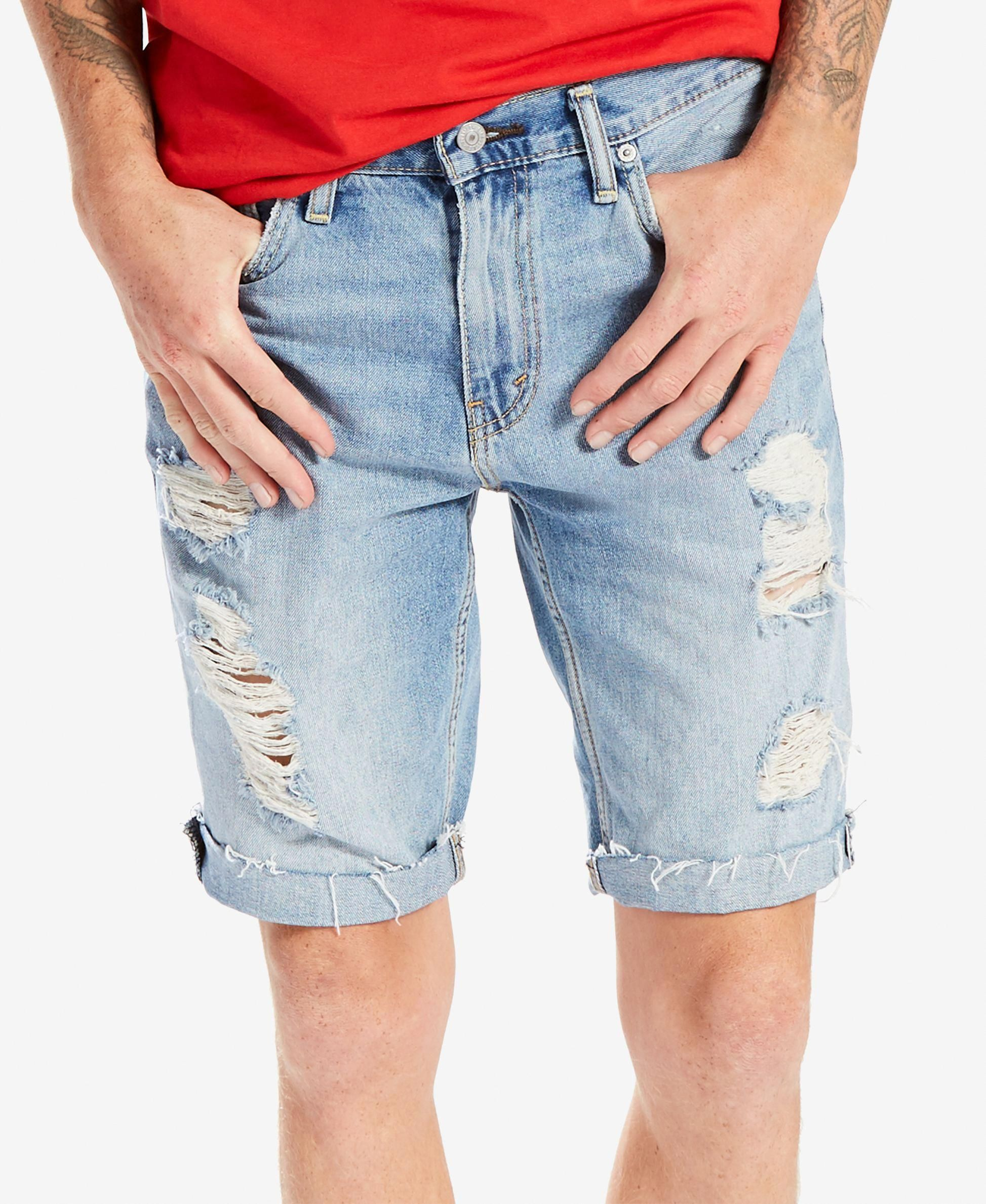 e795ffc1580863 Levi s Men s 511 Slim-Fit Cutoff Ripped Jean Shorts  MensJeans ...