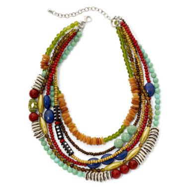 Aris by Treska Multicolor Bead Multi-Row Necklace  found at @JCPenney