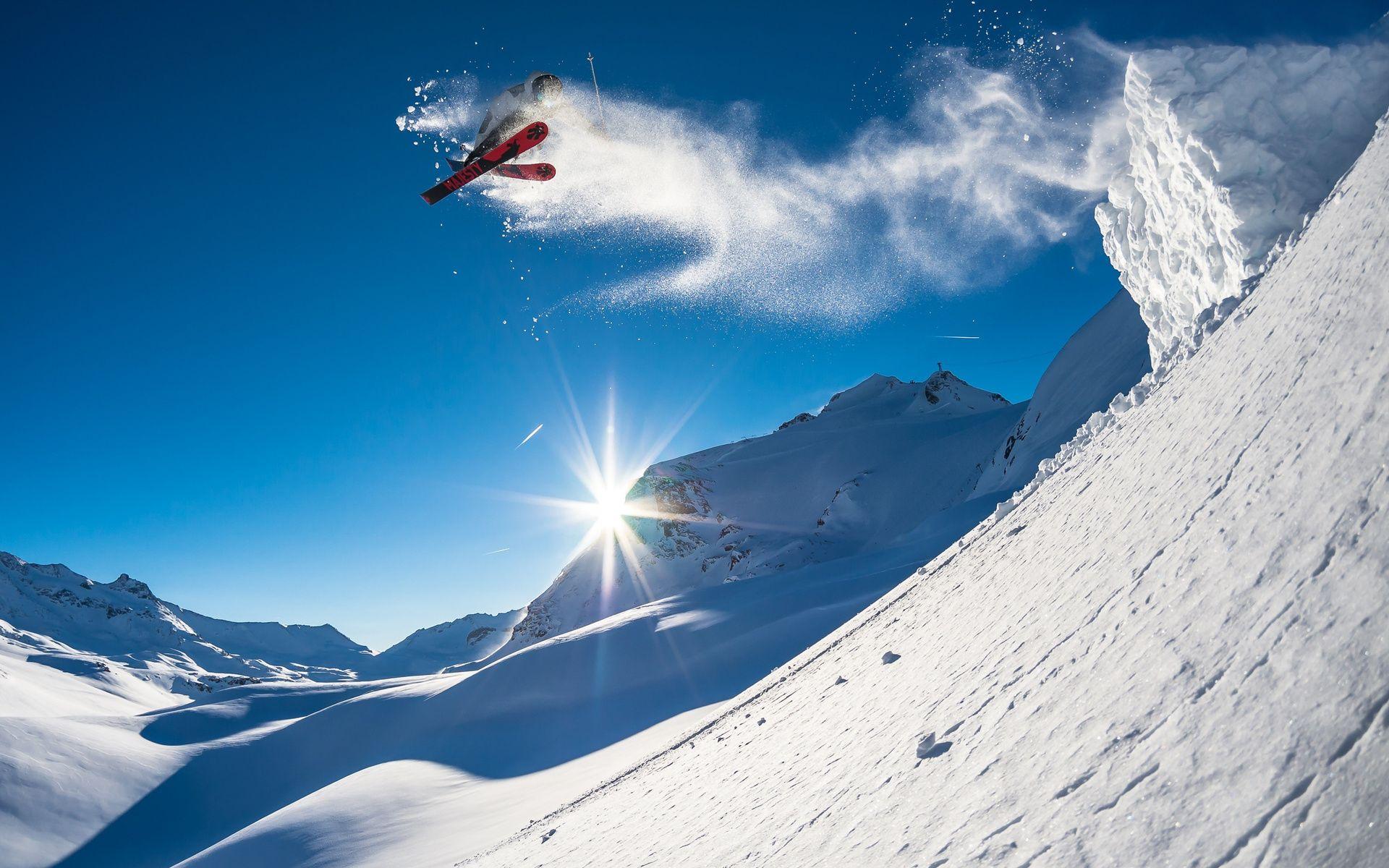Фото на телефон горные лыжи