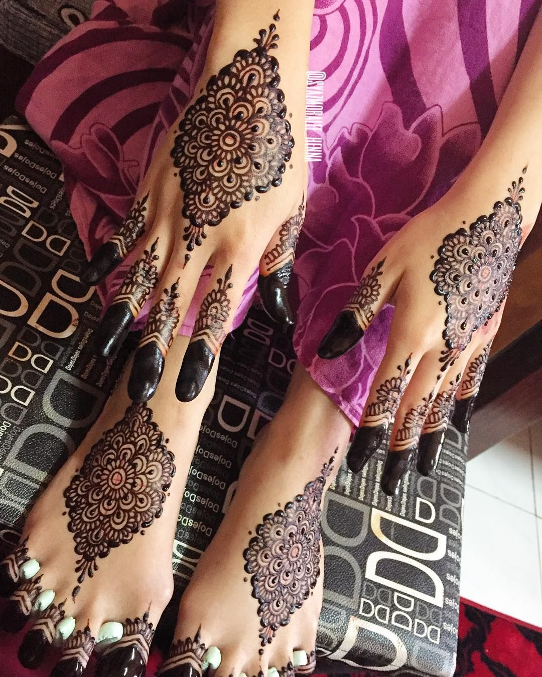 Malay Wedding Henna Mahendi Simple Bridal Mahendi Moralee