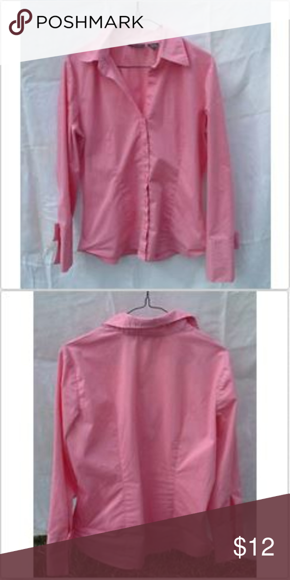New York Company Womens Pink Button Up Blouse L My Posh Closet