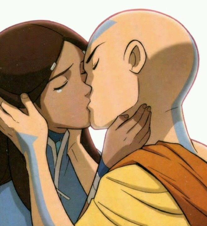 Katara S Tear Makes This Kiss So Lovely Avatar La Leyenda De Aang