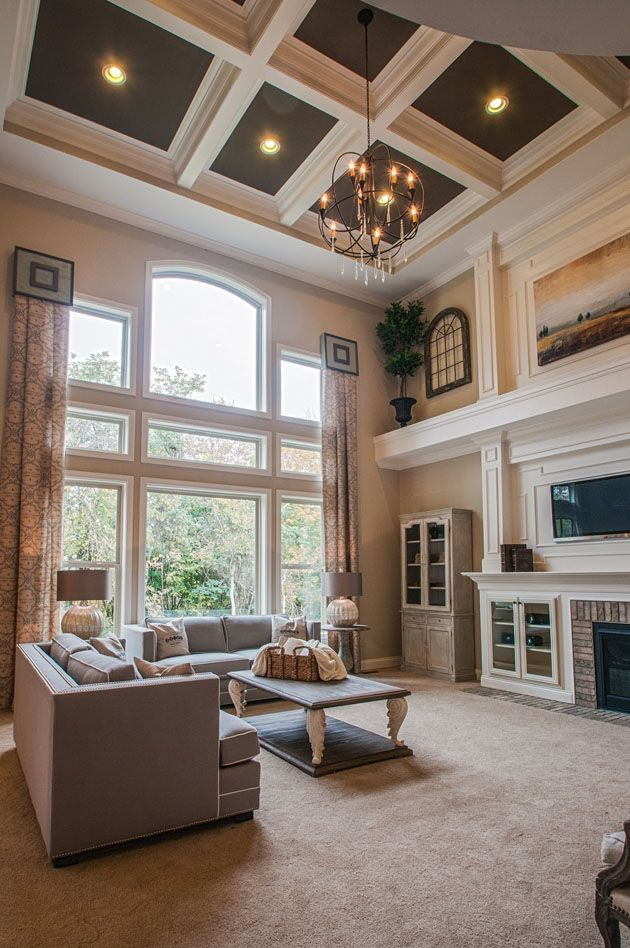 Two Story Great Room High Ceiling Living Room Vaulted Ceiling