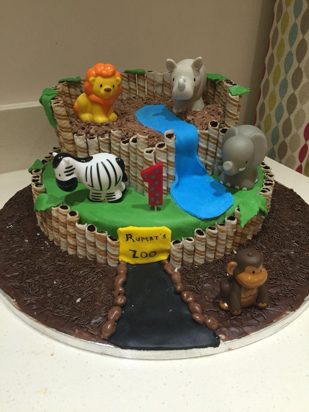 Astounding Zoo Cake Zoo Birthday Cake Safari Birthday Cakes Zoo Cake Funny Birthday Cards Online Amentibdeldamsfinfo