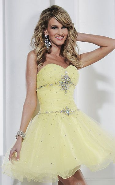 Short yellow party dress