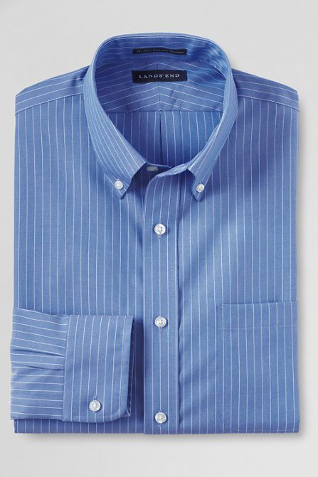 25fc883321a Men s Traditional Fit Pattern No Iron Supima Pinpoint Buttondown Dress Shirt  from Lands  End