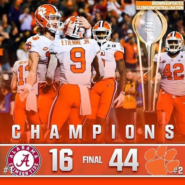 2018 National Champs Clemson Dominated Alabama The Entire Game Let S Go Clemson Tigers Football Clemson Football Clemson