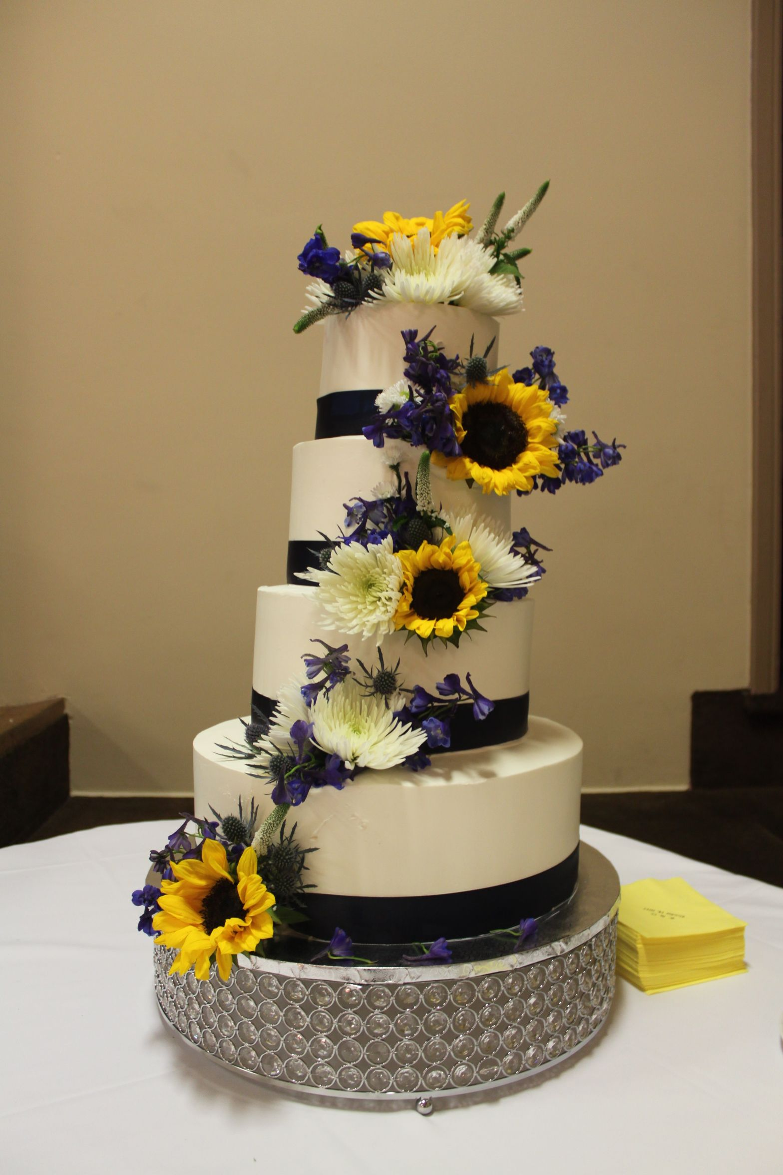 Beautiful Country Wedding Cake With Flowers By Lupin And Lilac