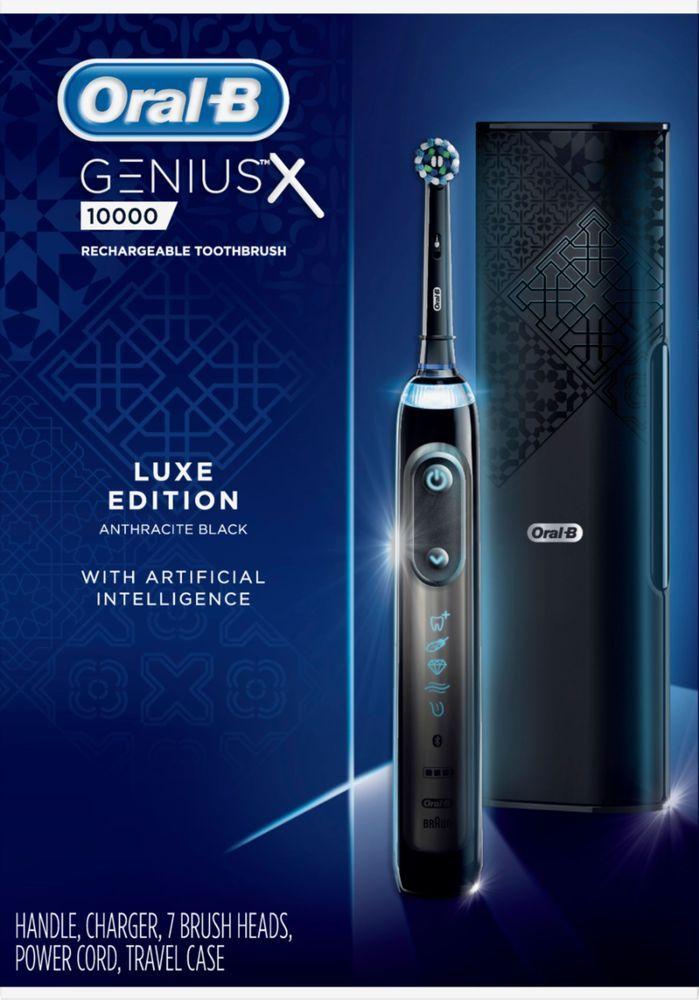 Oral B Genius X Luxe Rechargeable Toothbrush Anthracite Black D706 576 6xblk Best Buy Brushing Teeth Rechargeable Toothbrush Oral B
