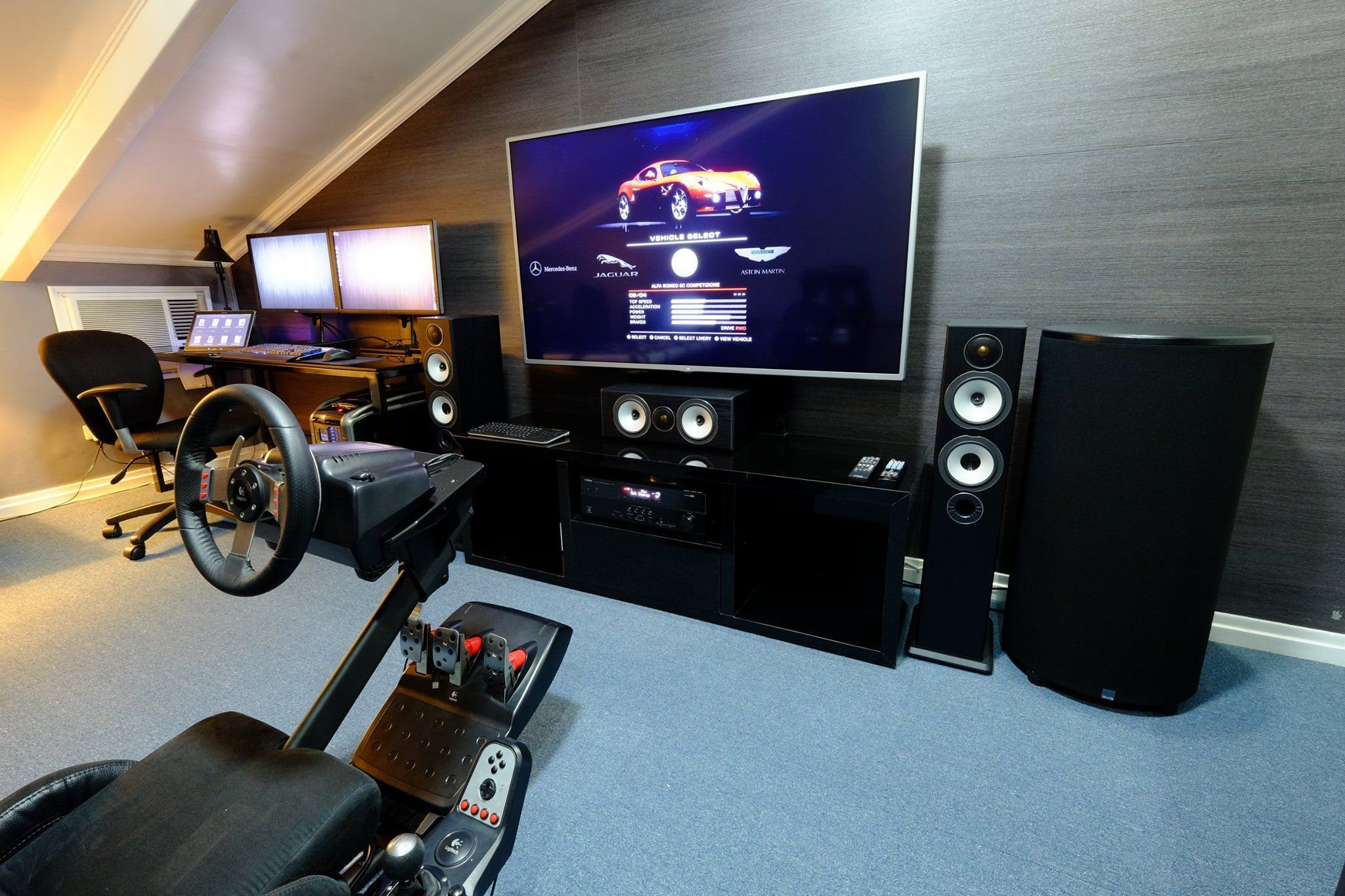 Gaming Setup Ideas Take A Look At This Fan's Beautiful Home Theater Gaming