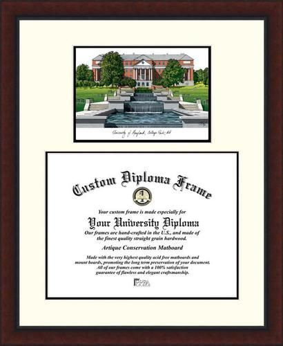 University of Maryland Terps Diploma Frame Lithograph Legacy Series ...