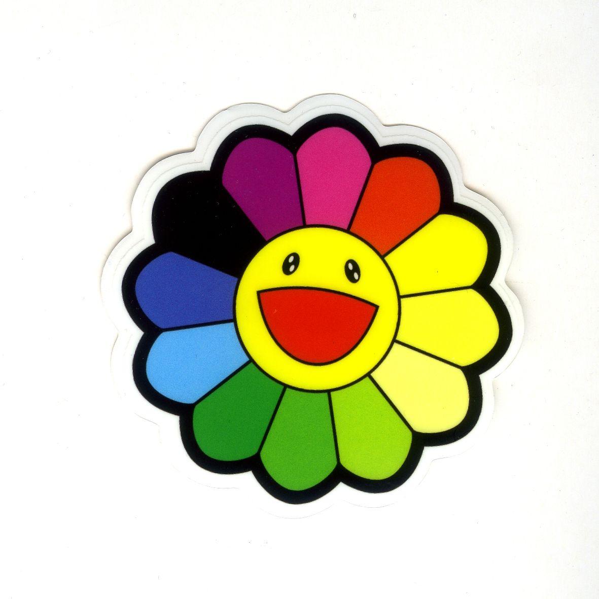 1071 Takashi Murakami Rainbow Daisy Flower Width 8 Cm