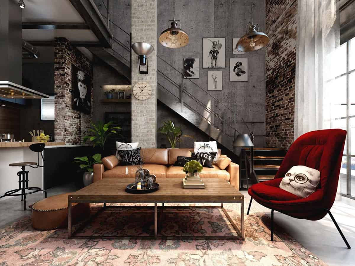 industrial style living room 2021 in 2020 home decor on best living room colors 2021 id=68036