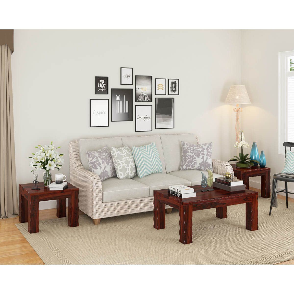 Yakima Rustic Solid Wood 3 Piece Coffee Table Set In 2021 Transitional Style Living Room 3 Piece Coffee Table Set Coffee Table Setting [ 1200 x 1200 Pixel ]