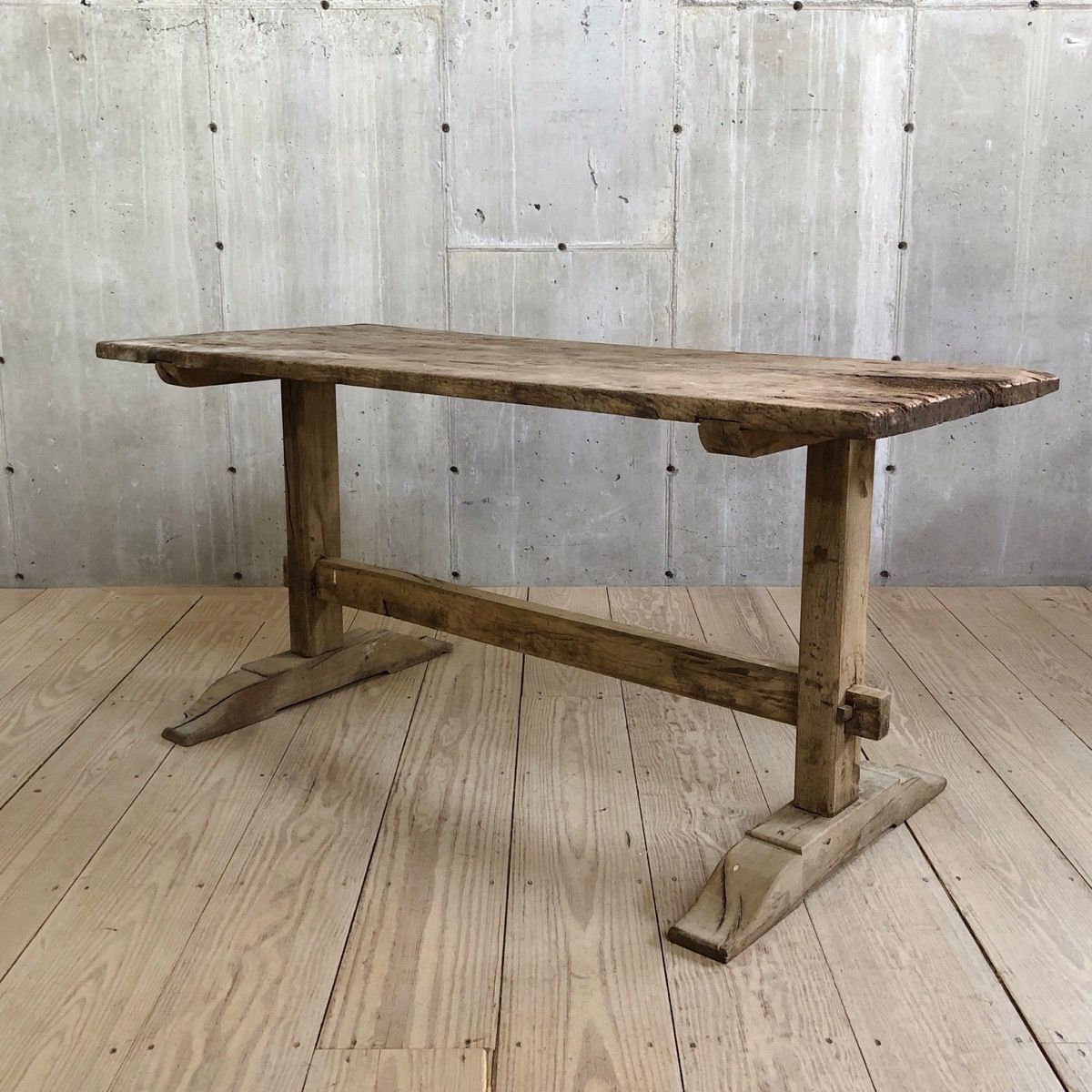 Antique Trestle Table Trestle Table Furniture Design Modern How To Antique Wood
