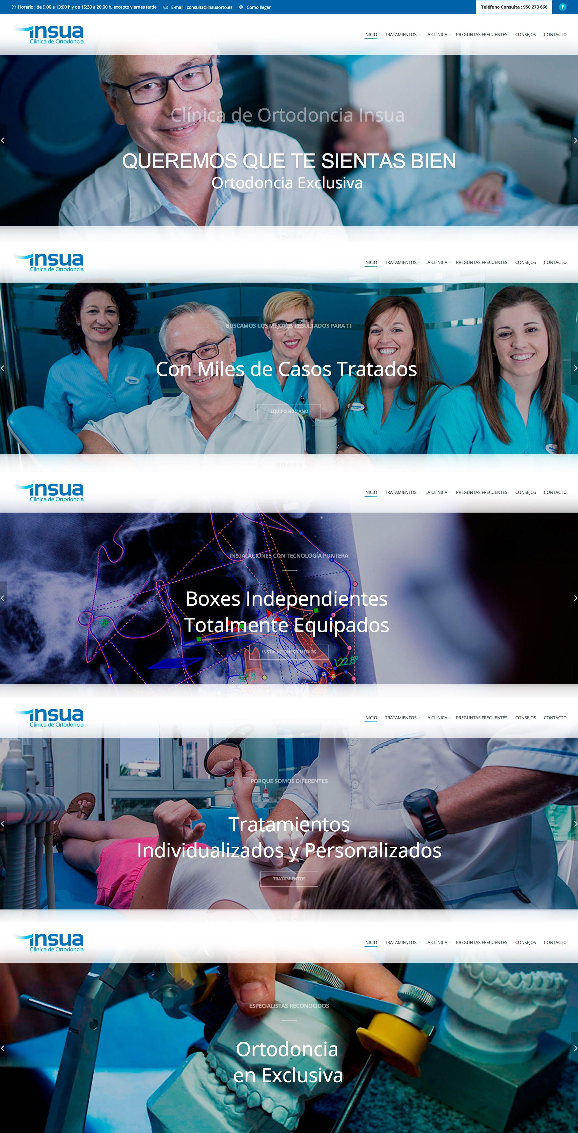 Ortodoncia Insua Almeria. Diseño de web. Eugenia Parra. Link: http://eu1.es/insua/  http://eugeniaparra.es