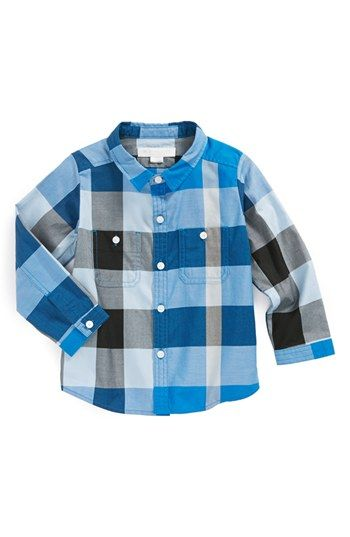 Burberry 'Mini Camber' Woven Shirt (Baby Boys) available at #Nordstrom