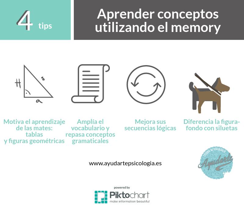 aprender con memory ayudarte estudio psicología