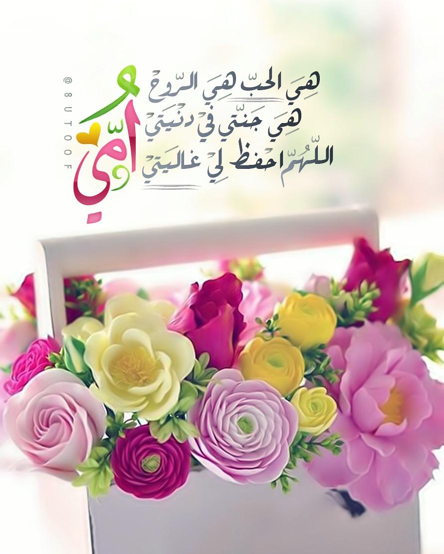 هي الحب هي الروح هي جنتي في دنيتي اللهم احفظ لي غاليتي امي Mom Birthday Quotes Arabic Quotes Good Night Messages