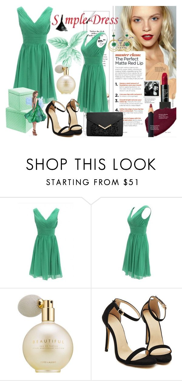 """""""Simple-dress#7"""" by merima-musanovic ❤ liked on Polyvore featuring Estée Lauder, ASOS, women's clothing, women's fashion, women, female, woman, misses, juniors and simple"""