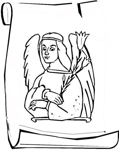Click to see printable version of Angel Gabriel Coloring