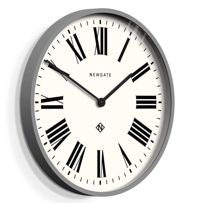 Newgate Italian Large Grey Roman Numeral Wall Clock