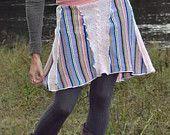 Handmade Upcycled Sweater Skirt-Pink Dream-By Mermaid Mushroom Size Small