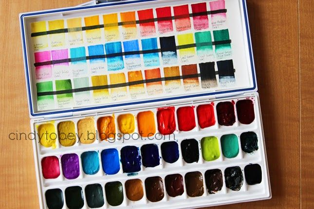 Building A Watercolor Palette Watercolor Palette Boxes