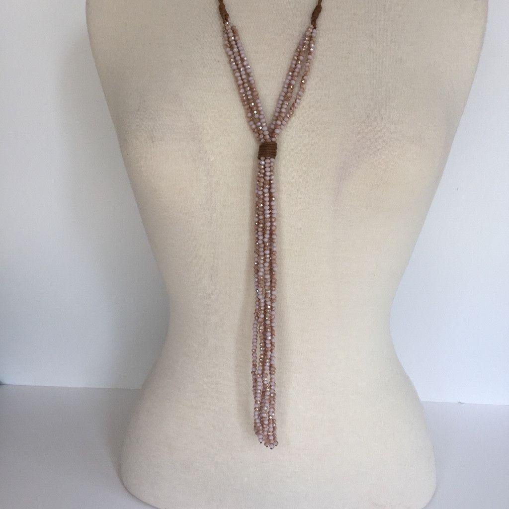 """Crystal """"Y"""" Necklaces"""