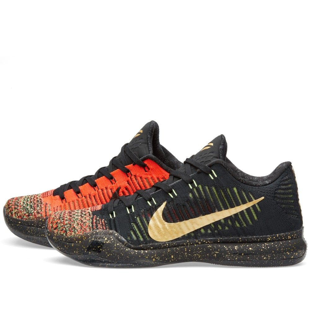Nike Kobe X Elite Low 'Christmas' (Black & Metallic Gold) | Shoes ...