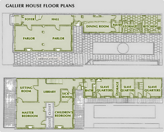 Floor plan of the gallier house new orleans favorite for New orleans home floor plans