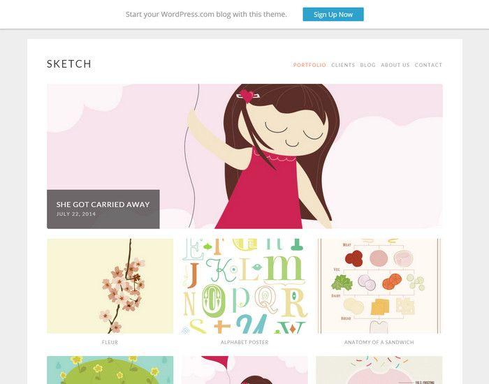 sketch - free responsive portfolio theme | WP themes | Pinterest